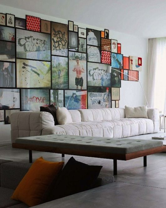 If you live with your boyfriend, or are moving in with him, this might be a good way to compromise female/male decorating. I hate the couch but love everything else. photo mixandmatchwallart_zps3728e0cb.jpg