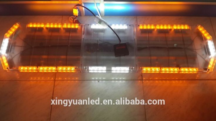 Ambulance Light bar LED emergency police light bar 88W 47inch Ambulance lights with siren speaker