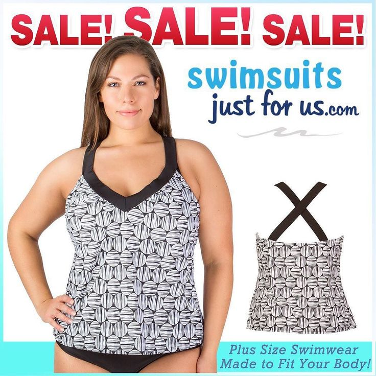 "FINAL CLEARANCE: Beautiful Black and White Cross Back Tankini Swim Top - NO RETURNS Size 16 only.     You can also shop our 2017 Swimwear Clearance with UP TO 70% OFF in our ""Sale and Clearance"" section for discounted Plus Size Swimwear and enjoy free shipping with CODE C2017 at checkout #shopplussize #curvyfashion #plussizeswimwear #plussizefashion #loveyourcurves #shopplussize #plussize #fashionnews #curvyfashion #plussizeswimwear #psblogger #psblog #loveyourcurves #realwomenhavecurves…"