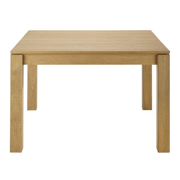 Tavolo quadrato allungabile in massello di quercia per sala da pranzo L 120 cm Danube