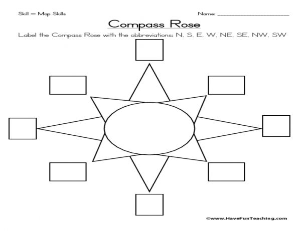 17 Compass Rose Worksheet 1st Grade Social Studies Worksheets Social Studies Maps Map Skills Worksheets