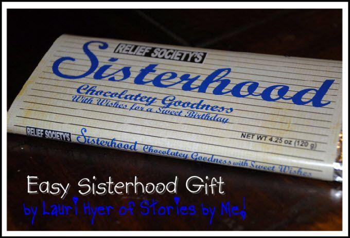 Relief Society Birthday Gift Idea....