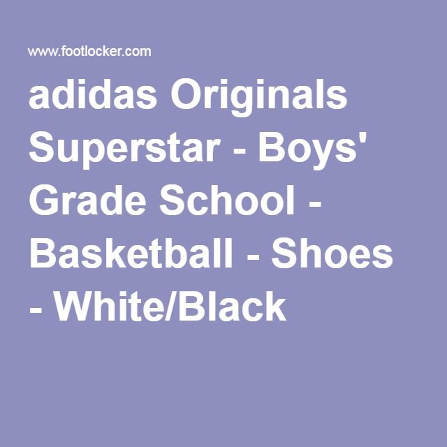 adidas Originals Superstar - Boys' Grade School - Basketball - Shoes - White/Black