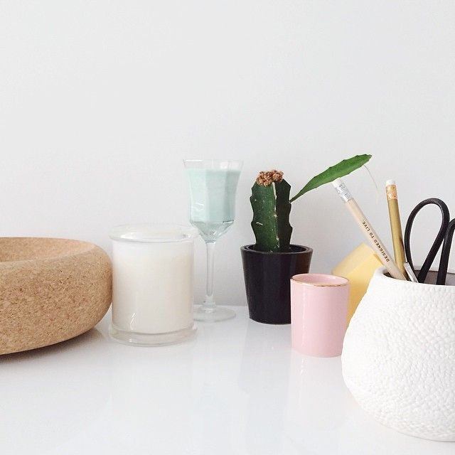 Made From Scratch Instagram | Pastel Office Clutter