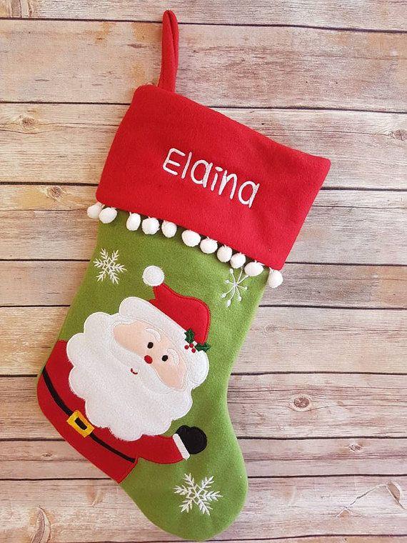 Navidad personalizada media santa Reno muñeco por Littlestitches1
