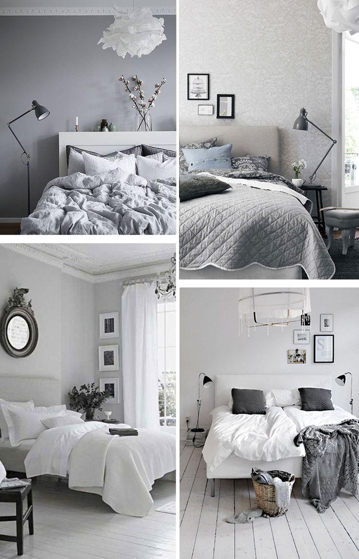 new trendy home deco dormitorios en blanco y gris dormitorio deco y inspiraci n. Black Bedroom Furniture Sets. Home Design Ideas