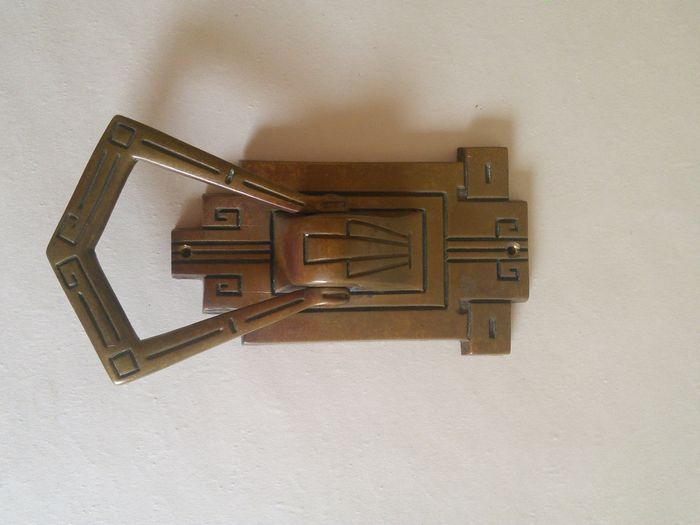 Elegant Beautiful Brass Art Deco Door Knocker