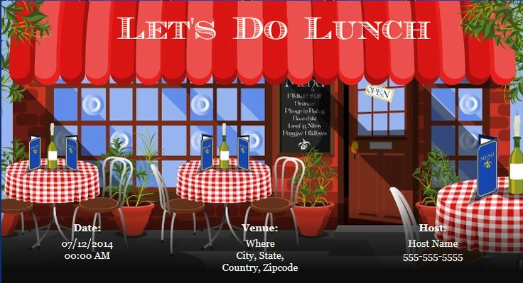 Plan a #lunch #party for your #family and #friends with www - lunch invitation templates