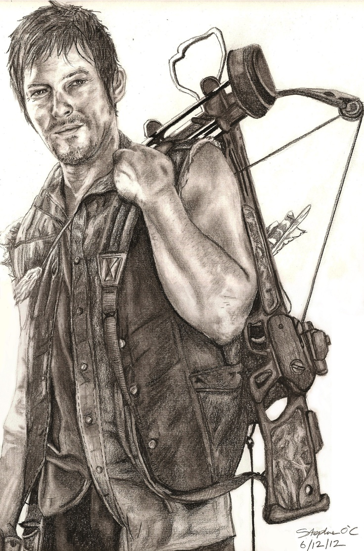 Daryl Dixon!!! she loves hiem! lol, I don't! good drawin though. @Alyson Collins