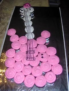 Guitar Birthday cupcakes
