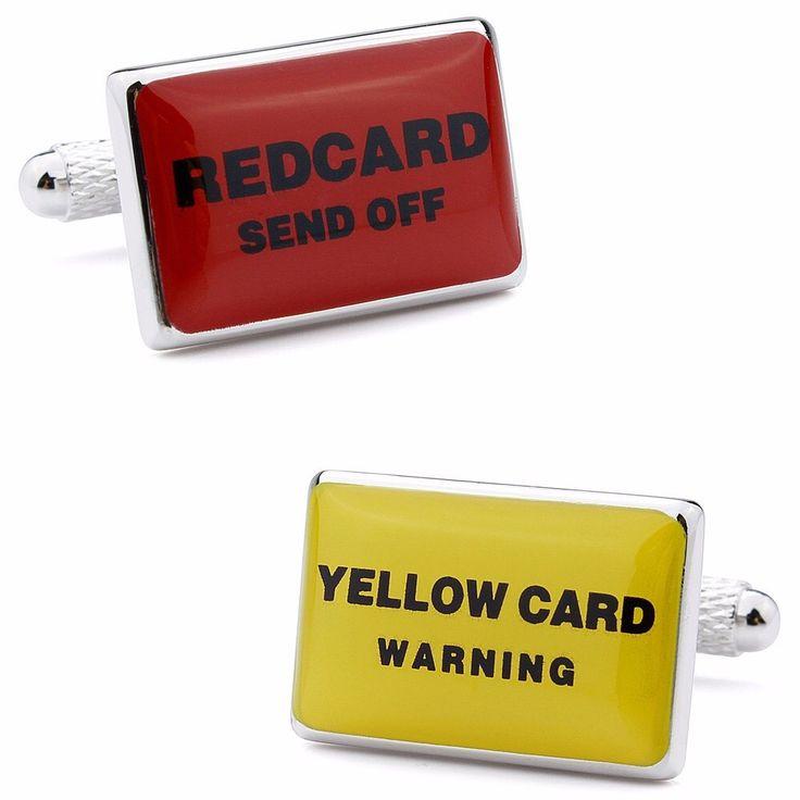 Yellow card / Red card  -  cufflinks by Manschettbutiken.se #cufflinks #manschettknappar #menswear #mensfashion #manschettbutiken www.manschettbutiken.se - We ship worldwide!