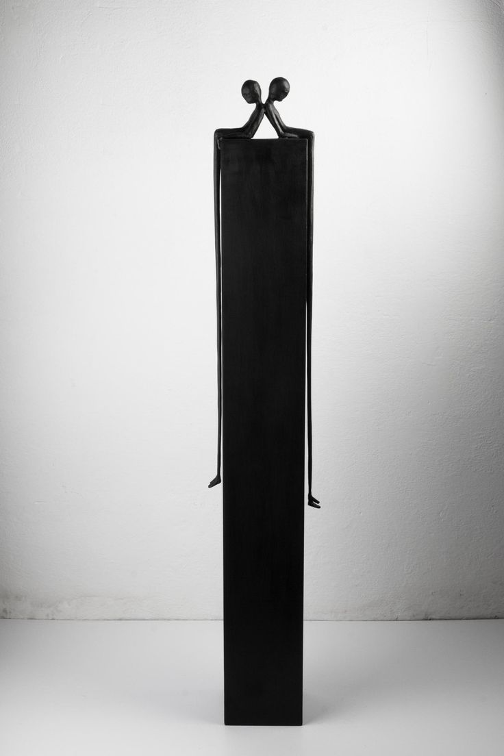 Alex Pinna, Quattro, bronze and iron, 20x15x120, ed. 6+1