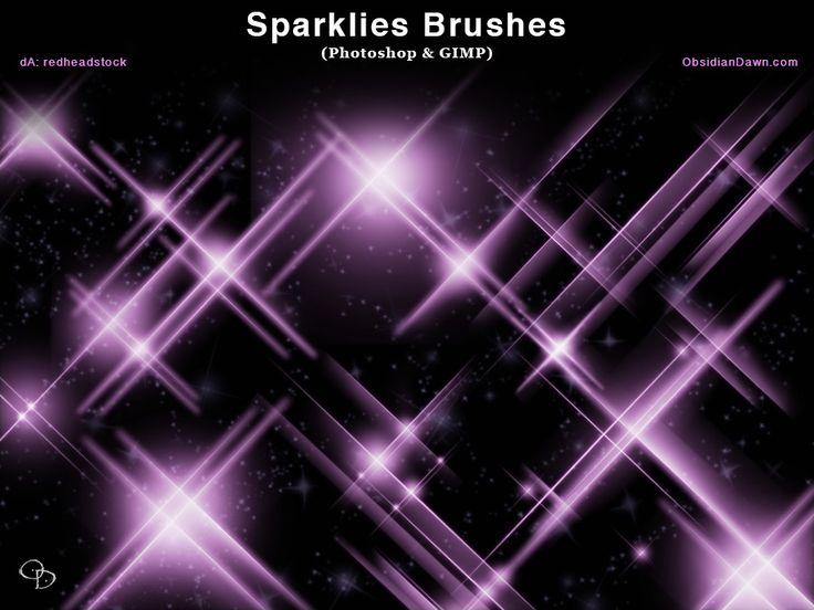 Sparklies Photoshop and GIMP Brushes by redheadstock.deviantart.com on @DeviantArt