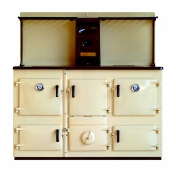 Reconditioned Rayburn 40 Cream Enamel with Plate Rack and Splash Back
