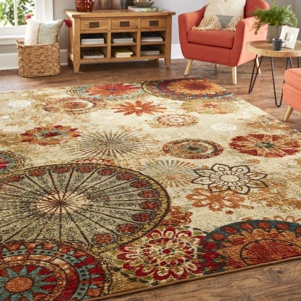 Mohawk Home Strata Caravan Medallion Multicolored Area Rug