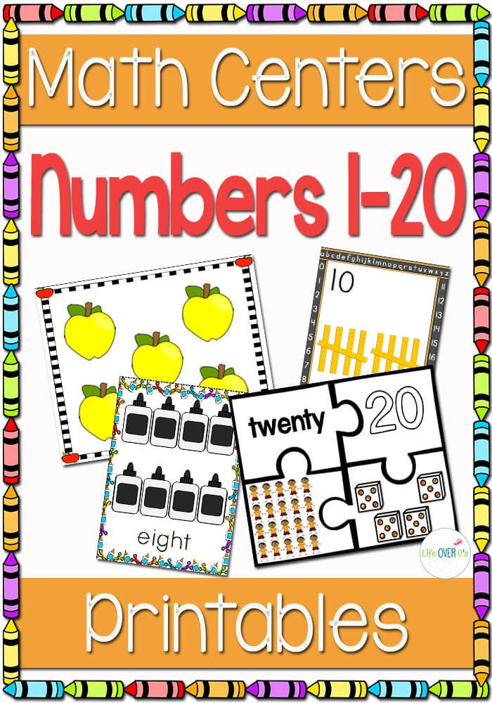 10 Card Games for Numbers to 20 Math centers, Learning