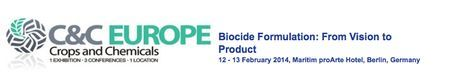 Biocide Formulation ----Date & Time:- Wednesday February 12, 2014 at 8:15 am to Thursday February 13, 2014 at 5:30 pm----Biocide Formulation: Advance your biocide formulation strategies with the latest technical developments in nanotechnology, microenapsulation, green formulations and efficacy testing----Price: £1664.81-£3328.43---- Venue details:- Maritim ProArte Hotel, Friedrichstraße 151, Berlin, 10117, Germany