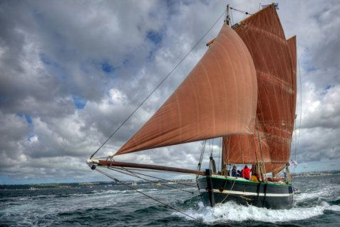 """Le chasse-marée """"La Belle Angèle"""",  #Bretagne #Navire"""
