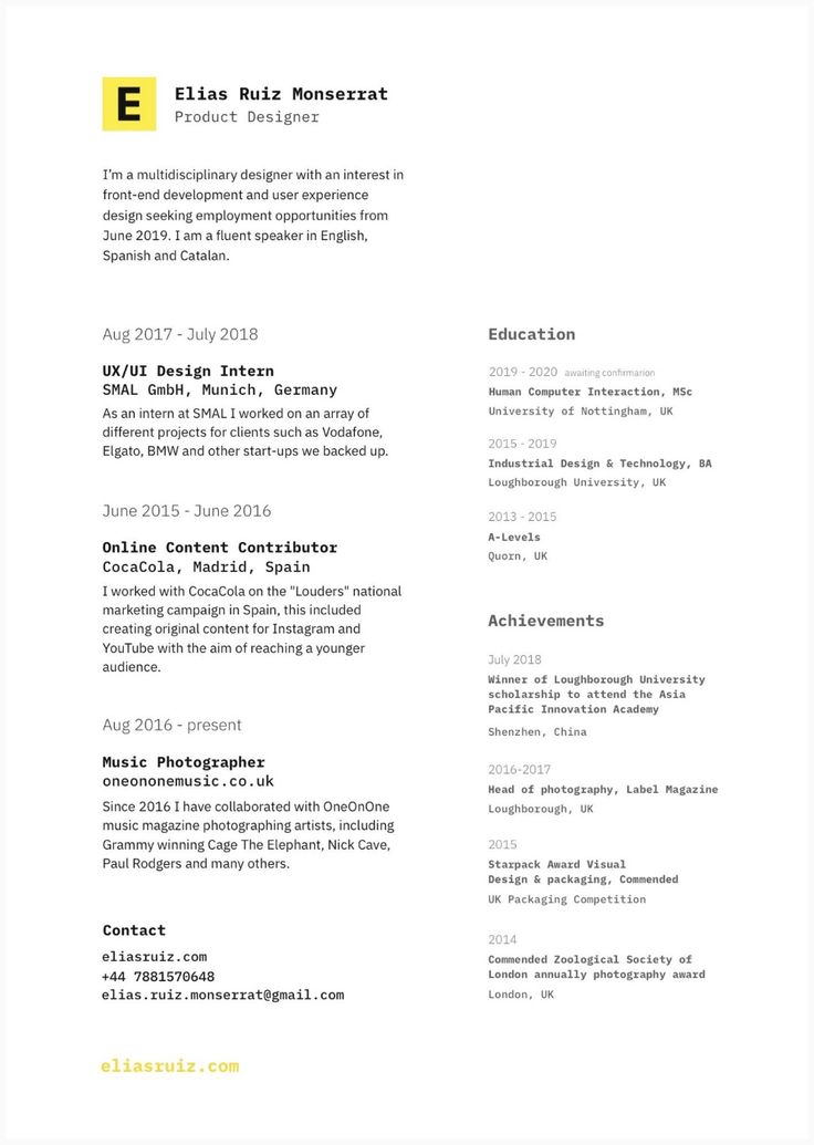 7 Great Student Resumes — 2020 Student resume, Resume