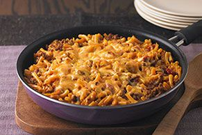 Cheesy Macaroni-Beef Skillet