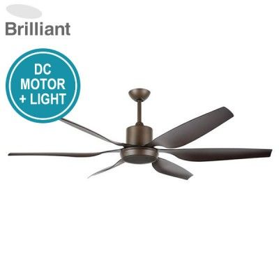 Aviator Ceiling Fan With DC Motor, Light And Remote 66""
