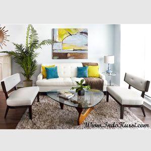 Kursi Tamu Minimalis Jok Sofa Putih