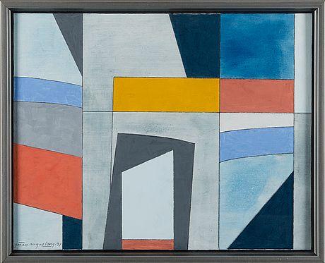 Göran Augustson: Keväinen ilta, 1991, guassi, 40x50 cm - Bukowskis Market 4/2016