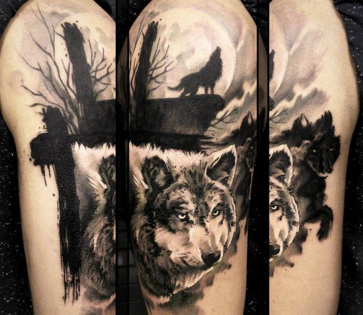 Wild Wolf tattoo by Uncl Paul Knows