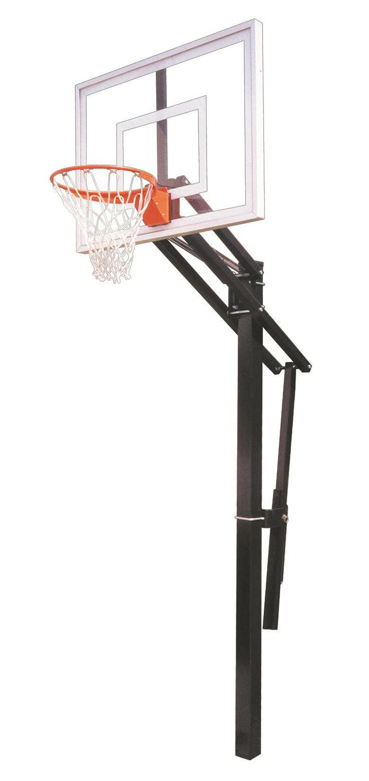 First Team Slam II In Ground Outdoor Adjustable Basketball Hoop 48 Inch Acrylic from NJ Swingsets