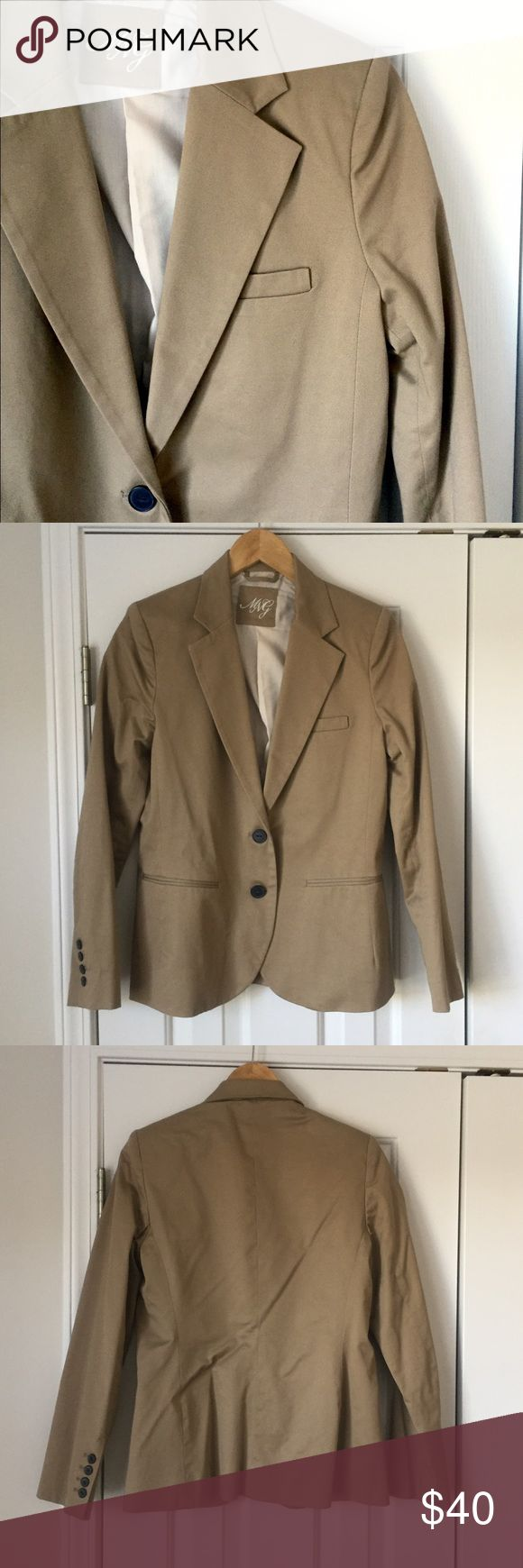 MNG by Mango khaki blazer In great condition! Nicely structured and flattering blazer. Mango Jackets & Coats Blazers
