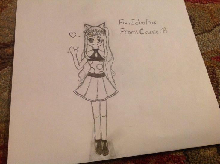 Anime fox girl by Cassie B for @EchoFox
