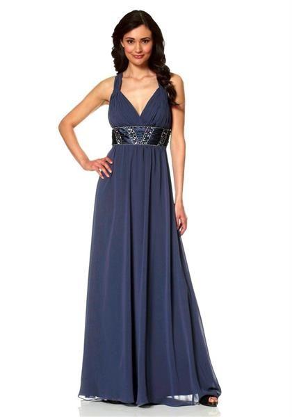 Вечернее темно синее платье