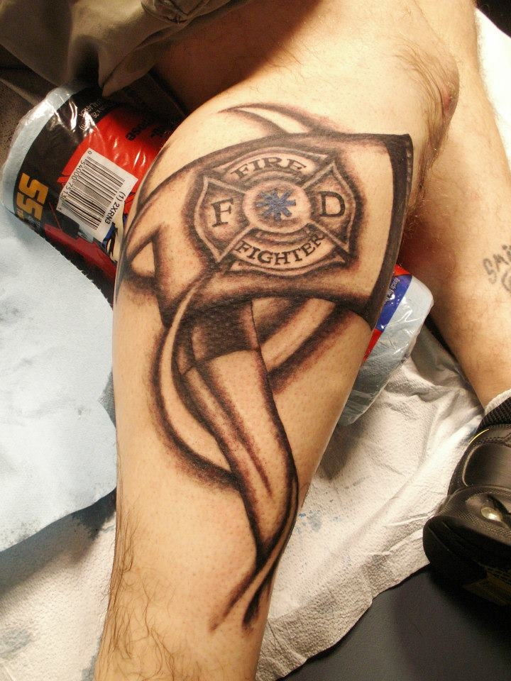Fire Fighter tattoo- Tattoo Artist Olivia Alden