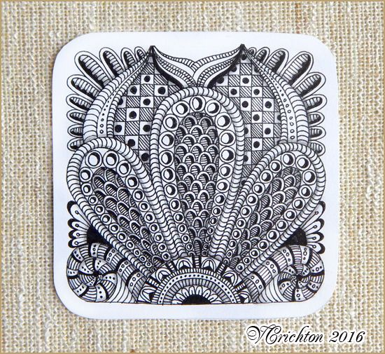 1066 besten zentangle tile art bilder auf pinterest for Zentangle tile template