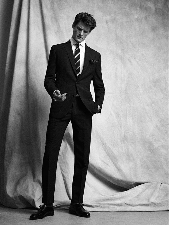 AMERICANA HALF-CANVAS LANA SARGA MARINO SLIM FIT PERSONAL TAILORING de HOMBRE - Personal Tailoring de Massimo Dutti de Primavera Verano 2017 por 299. ¡Elegancia natural!