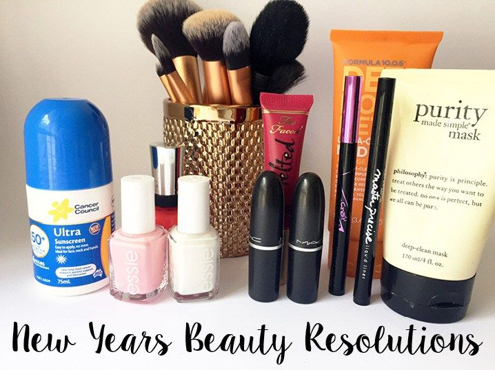 New Years Beauty Resolutions