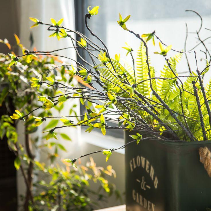 2017 Новый Искусственные Цветы Супер Красивые Весенние Листья Главная Дисплей Поддельные Цветок Винограда/Ротанга Декор Отдыха