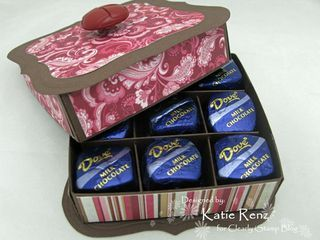 Cute little chocolates box picture tutorial.  labels one with directions uses label one die