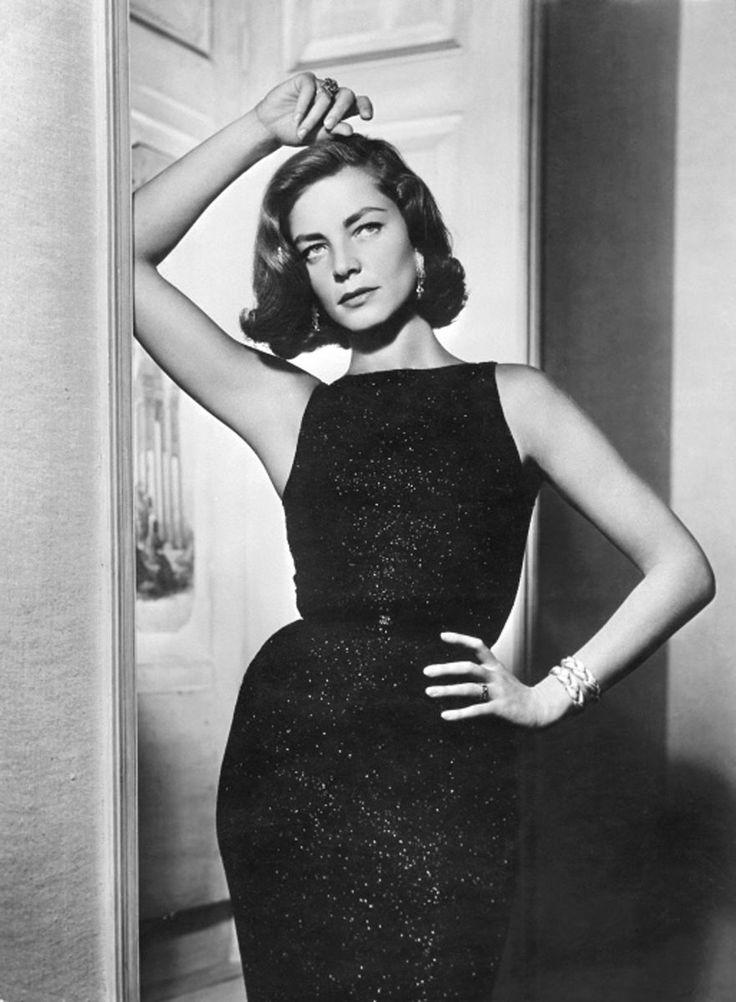 Lauren Bacall: Fashion, Vintage, Laurenbacall, Lauren Bacall, Hollywood, Black Dress, Classic