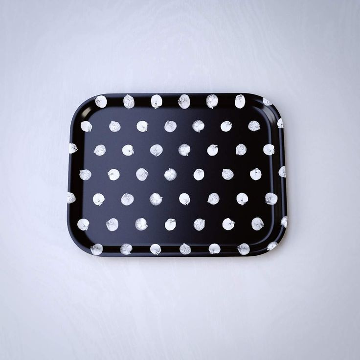 Cat polkadot black - pieni tarjotin / small tray 20cm x 27cm - Norteva
