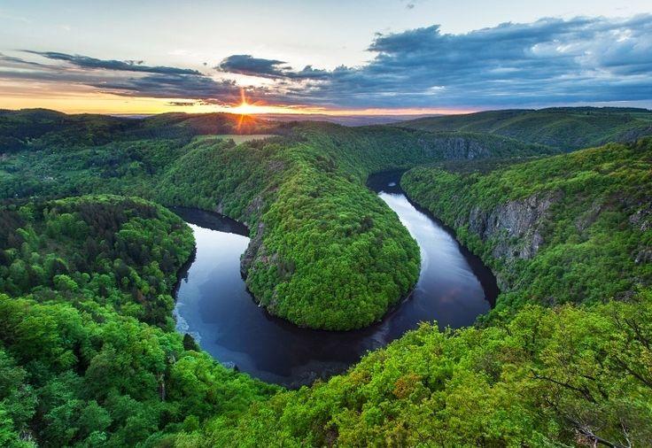 Vyhlídka Máj | kaňon řeky Vltavy, Teletín