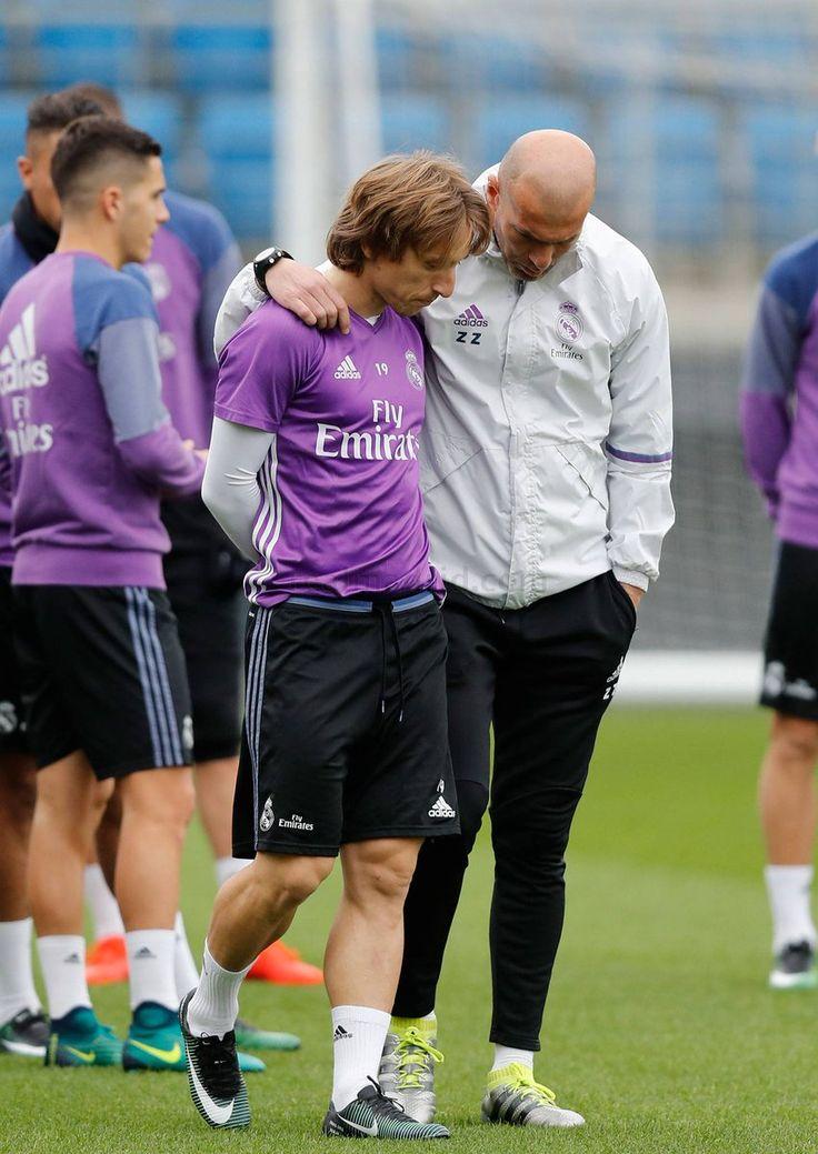 Luka Modric & Zinedine Zidane
