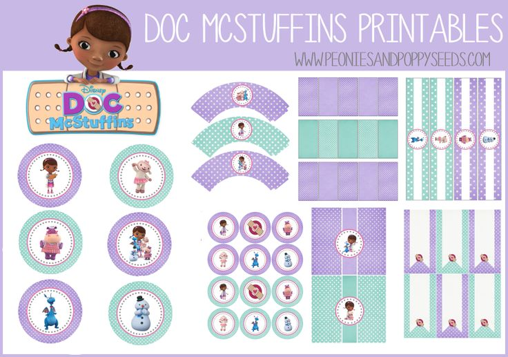 Simplicity image pertaining to free doc mcstuffins printable