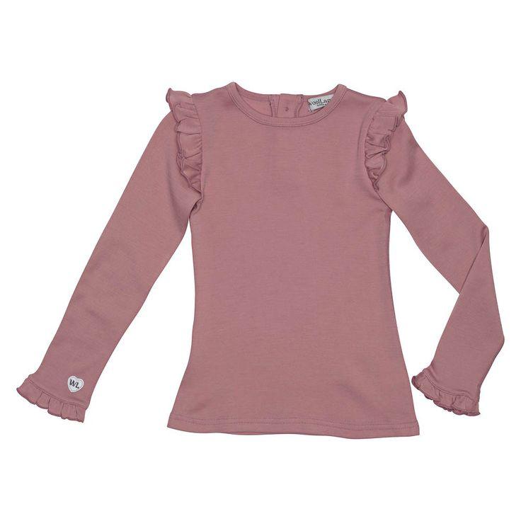 WoolLand ULLTOPP JENTE 2-7 ÅR ÅLESUND, Pink Blush