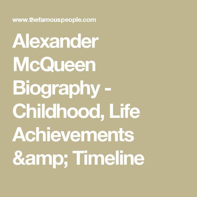 Alexander McQueen Biography - Childhood, Life Achievements & Timeline