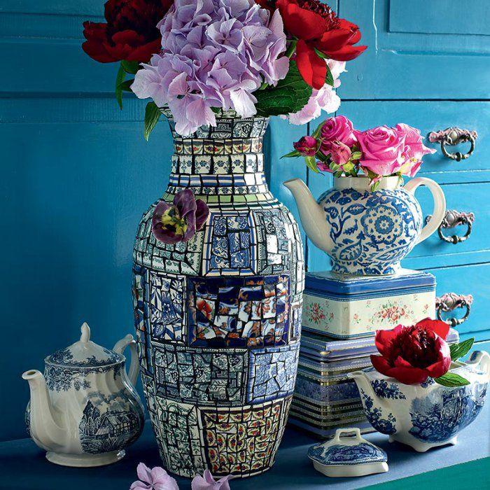 Idees Mosaiques Image : Idées sur le thème mosaic vase pinterest