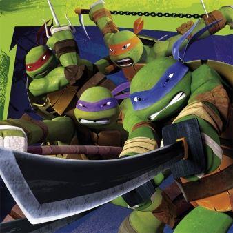 Fest med Ninja Turtles.