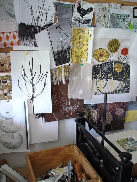 Studio pinboard by St. Jude's, via Flickr