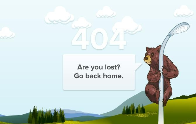 The lovely (and interactive) 404 page of matchFWD    See it in action at http://matchfwd.com/press/4435
