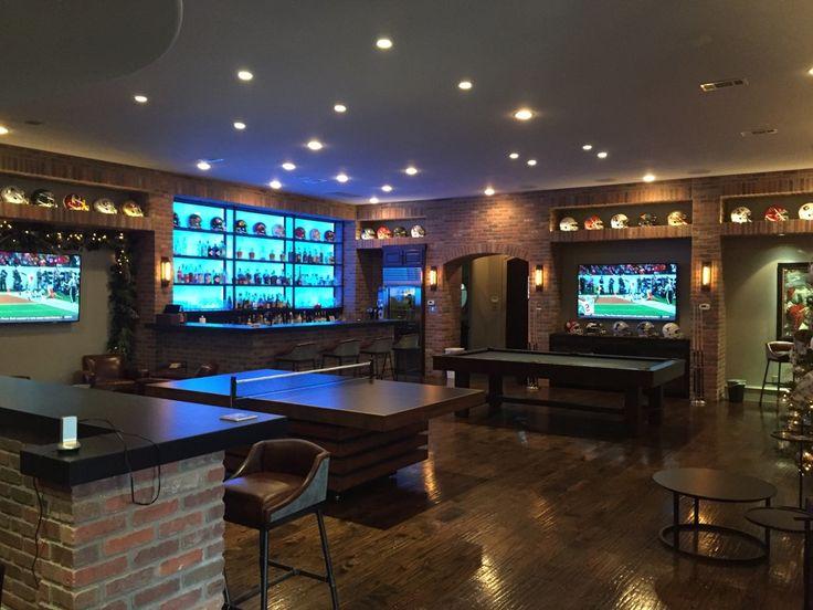 Man cave OSU BAR Home bar Oklahoma State University Man